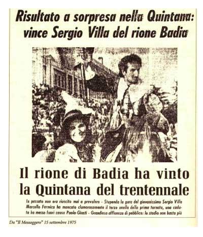 Palio Badia 1973